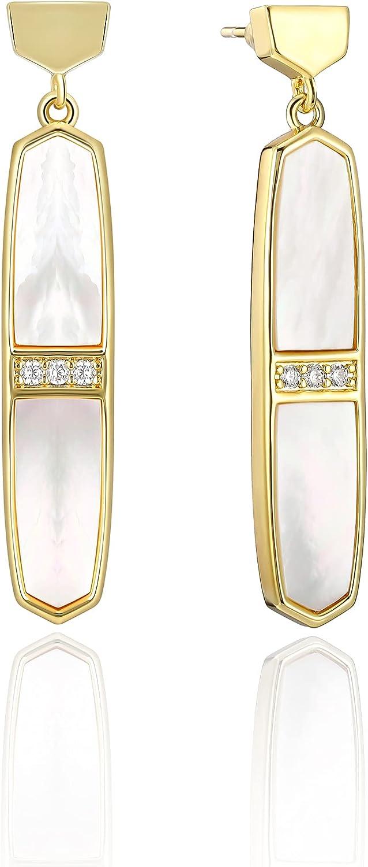 okokiss Handmade Gemstone Dangle Drop In a popularity Earrings Women G 18k Super special price - for