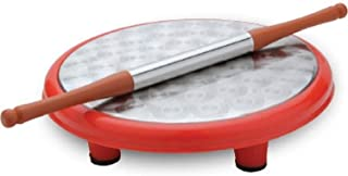 IndiaBigShop Round Roti Maker Rolling Board with Rolling Pin for Home & Kitchen