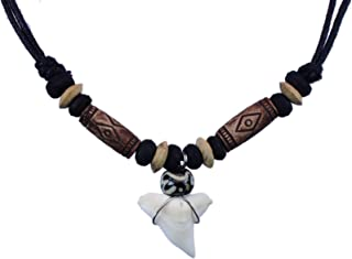 exoticdream Shark Tooth Tribe Beads Necklace Handmade Hawaiian Beach