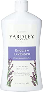 Yardley London Luxurious Hand Soap Refill, Flowering English Lavender 16 oz (Pack of 4)