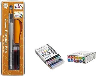 Lote 1 Pluma Caligráfica Pilot Parallel Pen plumin 2.4mm Recargable + Caja con 12 Cartuchos Surtidos Pluma Pilot Parallel Pen