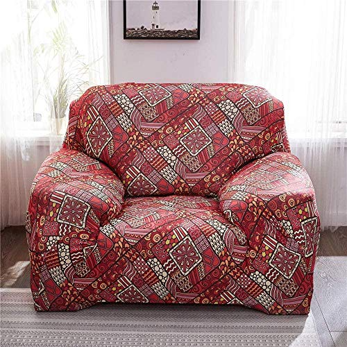 AIMAIMAI Sofá elástico Funda de Silla con Funda Funda de sofá con Estampado Sillón Funda con Funda Muebles Sofá Protector-15_1_Seat: _90-140_cm
