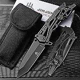 NedFoss Tanto Navaja Plegable Cuchillo de una Mano Cuchillo para Exteriores Cuchillo de Bolsillo EDC Carpeta para Herramientas de Bolsillo, 8,5 cm Hoja (Negro)