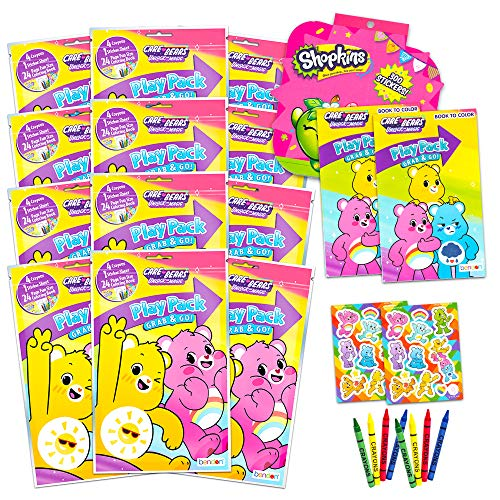 Care Bears Ultimate Party Favors Packs - Bundle Includes 12 Sets with Stickers, Coloring Books and Crayons (Party Supplies)
