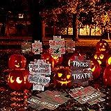JoyTplay 6Piezas Decoraciones de Halloween Señales de Patio Exterior Miedo Tenga Cuidado...