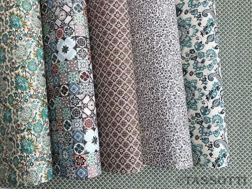 Tassotti - Dekoratives Papier für elegante Geschenke | Bindemittlung | Möbelbeschichtung | Decoupage - Packung mit 6 Bögen sortiert 50 x 70 cm (klassisch)