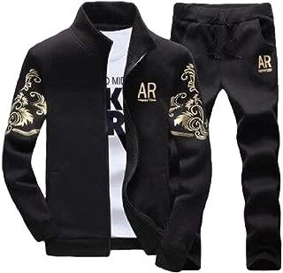 Mogogo Men's Casual Sports Zip Up Oversized 2-Piece Sport Sweat Suit Set