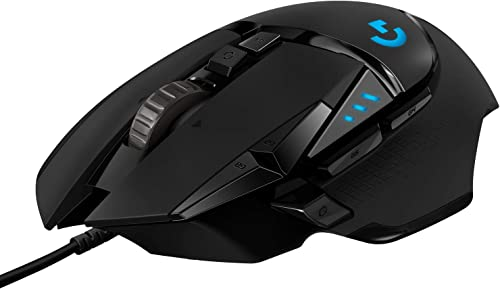 popular Logitech 2021 G502 2021 HERO High Performance Wired Gaming Mouse, HERO 25K Sensor, 25,600 DPI, RGB, Adjustable Weights, 11 Programmable Buttons, On-Board Memory, PC / Mac sale
