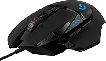 Logitech G502 HERO Ratón Gaming con Cable Alto Rendimiento, Captor HERO 25K, 25,600 DPI, RGB, Peso Personalizable, 11...