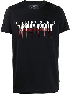 PHILIPP PLEIN Men's F19CMTK3490PJY002N02 Black Cotton T-Shirt