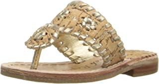 jack rogers sandals cork and gold