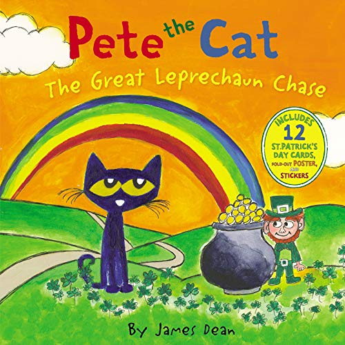 Pete the Cat: The Great Leprechaun Chase: Includes 12 St. Patrick's Day Car...