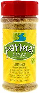 Parma! Vegan Parmesan - Original, Dairy-Free, Soy-Free and Gluten-Free Vegan Cheese, Plant-Based Superfood, Kosher (3.5 ounces)