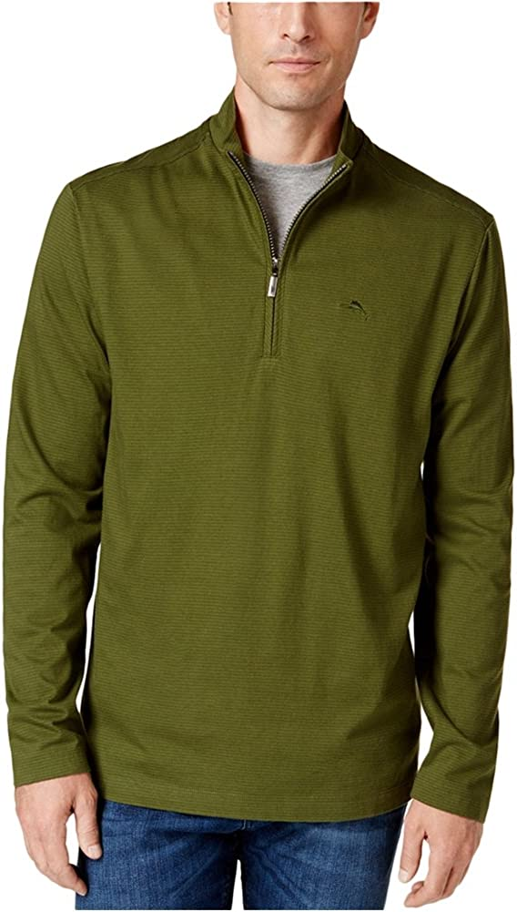 Tommy Bahama Mens New Shadow Cove Pullover Sweater, Green, Small