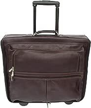 Piel Leather Traveler Garment Bag on Wheels