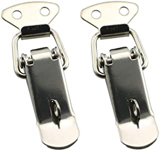 RuiLing 2pcs 58mm Spring Loaded Latch Catch Toggle Clamp Stainless Steel Duckbill Tensionlock Hasp for Cabinet Boxes Suitc...