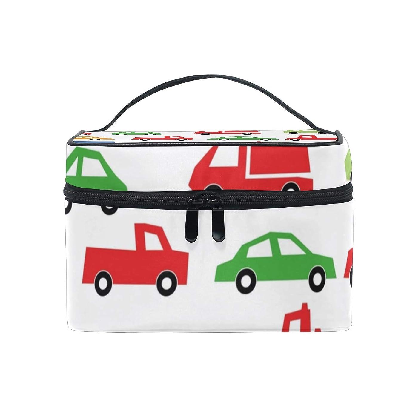 剃る接ぎ木伝説メイクボックス おもちゃの車柄 化粧ポーチ 化粧品 化粧道具 小物入れ メイクブラシバッグ 大容量 旅行用 収納ケース