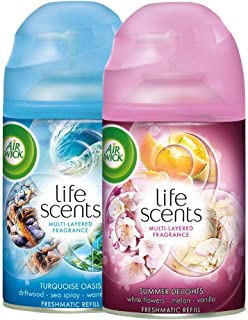 Airwick Freshmatic Refill Life Scents Summer Delights - 250 ml and Airwick Freshmatic Refill Life Scents Turquoise Oasis -...