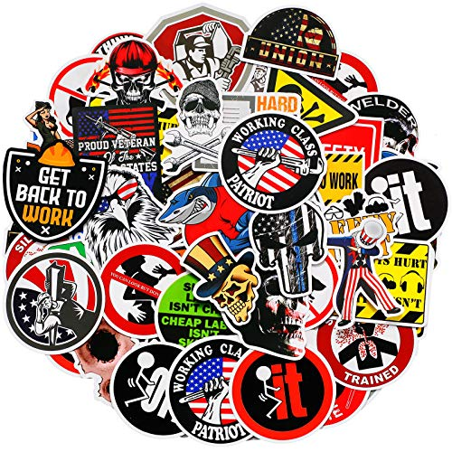 Hard Hat Stickers Tool Box Sticker Helmet Stickers Funny Decals for Worker Construction Electrician Oilfield Fire Crew Mechanic Laptop Luggage Bicycle Stickers 200