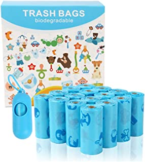 Value Pack Diaper Bag Refills,Biodegradable baby diaper bag, 240 Count,Complimentary trash bag dispenser