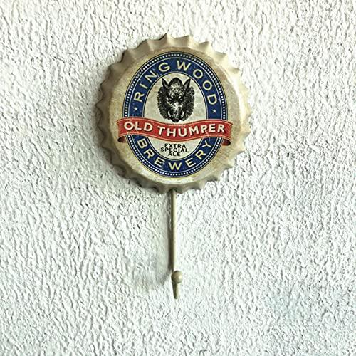 Gancho de tapa de botella de vino vintage Hou colgante decorativo artesanal de pared creativo gancho de tapa de cerveza-FMLT-51088