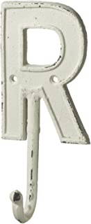 Midwest-CBK Monogram Letter R Single Wall Hook Painted Cast Iron 7.5 Inch