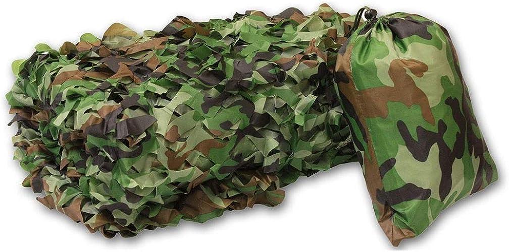 Filet Camo Visière Extérieure GR Filet de camouflage à trois couches Filet de camouflage Filet d'extérieur Montagne en vert Coupe de tissu à fleurs (Taille  3x5m) Armée Camo Filet ( taille   2x8m )