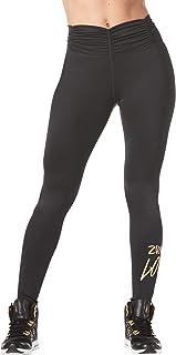 Zumba Women's High Waist Tummy Control Print Leggings with Compression