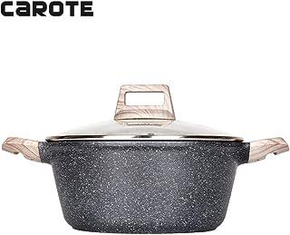 Carote Non-Stick Granite Stone Coating Casserole Dish with lid,6-Quart