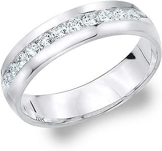 .50ct Classic Men's Diamond Ring in 10K Gold, 1/2 cttw Wedding Anniversary Ring for Men