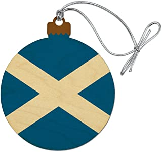 GRAPHICS & MORE Scotland Scottish Country Flag Wood Christmas Tree Holiday Ornament