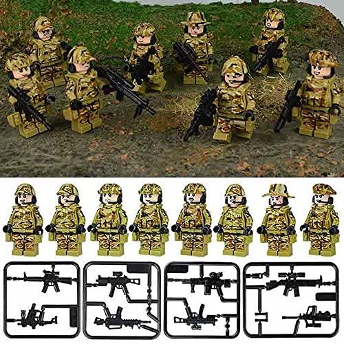 Juego de armas de construcción de juguetes para Lego Mini figuras militares soldados del ejército