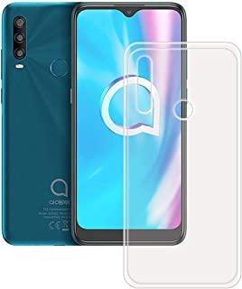 FZZ Slim Thin Transparent Case for Alcatel 1 SP, Soft Protective Phone Cover With Flexible TPU Protection Bumper Shell for...