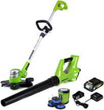 Greenworks STBA24B210 String Trimmer, Combo + 3 pack spool, Green