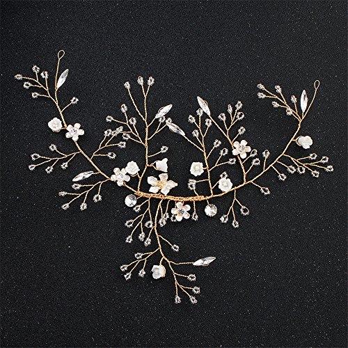 Weddwith Kopfschmuck Headwear Styling Zubehör Bridal Hair Crystal Haarschmuck Fine Resin Flower Braut Hair Band Europa & Amerika Brautkleider Kleider Zubehör