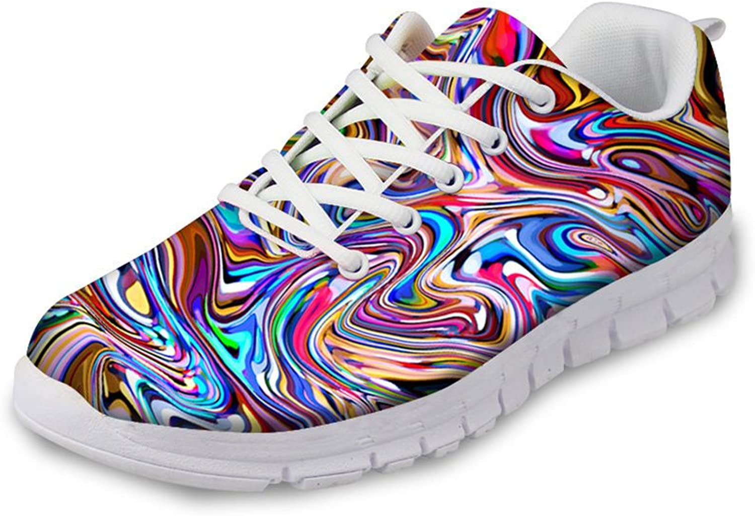 HUGS IDEA Painting Design Women's Fashion Casual Sneakers Lightweight Running shoes