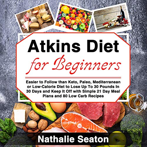 Atkins Diet for Beginners audiobook cover art