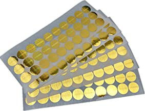 500 pcs Laser Hologram Original Sticker 15mm / 0.59 inch Round Security Tamper Evident Stickers One-time Use (Gold)