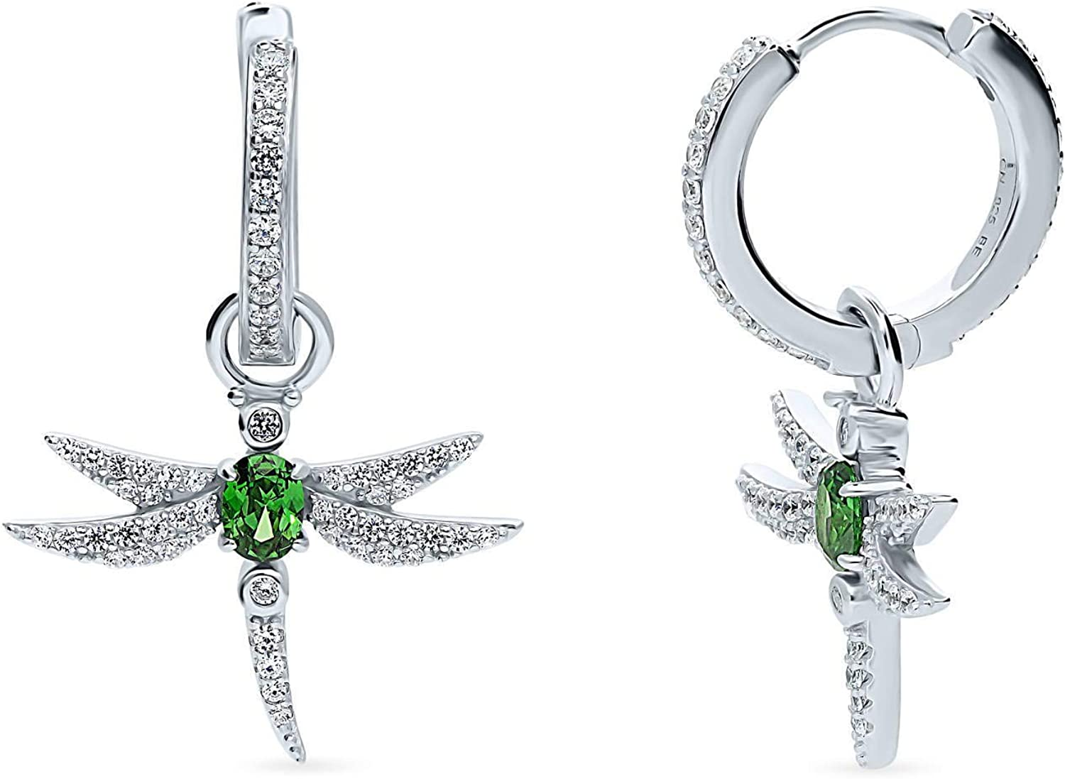 Clearance SALE Limited time BERRICLE Rhodium Plated Sterling Silver Gifts CZ Dragon Cubic Zirconia
