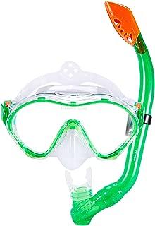 KUYOU Snorkel Set for Kids,Dry Top Snorkel Mask - Anti-Fog and Anti-Leak Easy Adjustable Snorkeling Gear for Children, Boys & Girls,Juniors Freediving Gear Set Age 5.