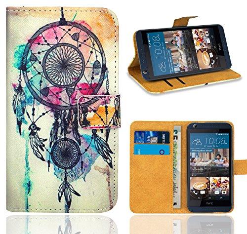 FoneExpert® HTC Desire 626 626G Handy Tasche, Wallet Case Flip Cover Hüllen Etui Ledertasche Lederhülle Premium Schutzhülle für HTC Desire 626 626G (Pattern 9)
