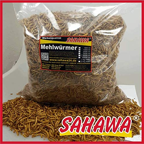 SAHAWA Mehlwürmer 1Kg Beutel getrocknet
