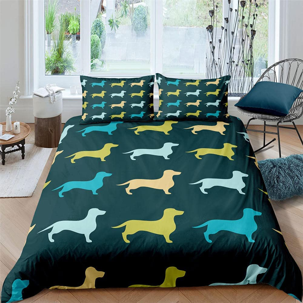 2 3 Pieces Bedding Many popular brands Sets 3D Print Pattern Dog Duvet Cute C Animal OFFicial store