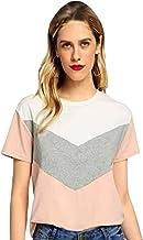 JUNEBERRY 100% Cotton Multicolored Stylish Round Neck T-Shirt for Women/Girls