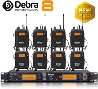 $564 Get The Best Sound Quality!!! Professional True Diversity UHF in Ear Monitor System! Dual Channel Monitoring ER-2040 Type for Stage Recording Studio Monitoring(SR2050 Update Type) (with 8 Receivers)