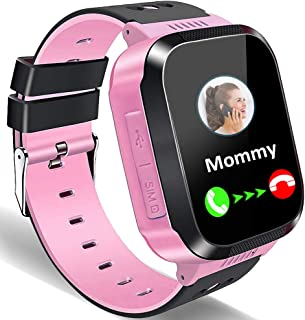Kids Smart Watches for Girls Boys GPS Tracker Smartwatch Phone 2 Way Call Voice Messages SOS Game Camera Flashlight Alarm Clock 1.44