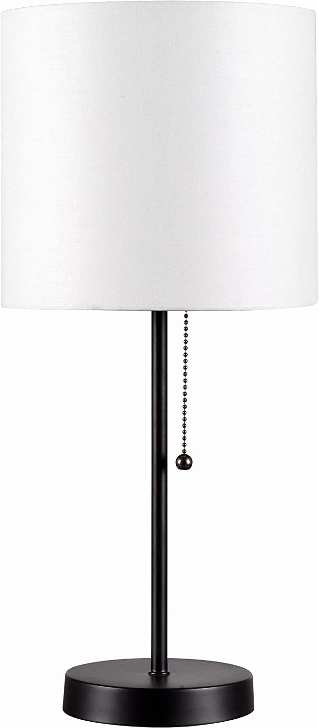 Bargain sale Kenroy Home 32714BL-WH Tom Table Lamps Black Small Finish Popular brand in the world