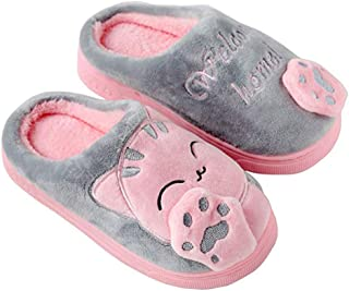 WYSBAOSHU Kids Slippers Warm Coral Fleece Indoor House Shoes for Boys and Girls