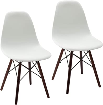 b94913317d3 Amazon.com - Baxton Studio LAC Plastic Side Chair Set of 2 - Chairs