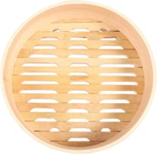 YARNOW Bamboo Steamer Cooker Bamboo Steamer Cage Basket Cakeware Healthy Cooking for Vegetables Dim Sum Dumplings Buns 21cm